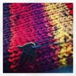 Hand knit sock