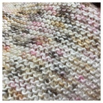 Hand knit closeup