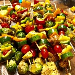 Vegetable kebabs my sister made